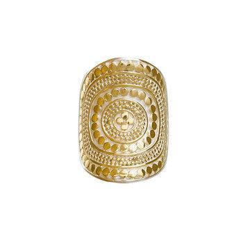 Anna Beck Beaded Saddle Ring - Gold