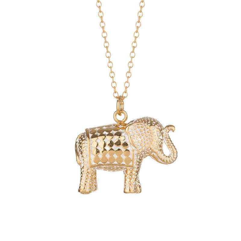 Anna Beck Large Elephant Necklace - Gold