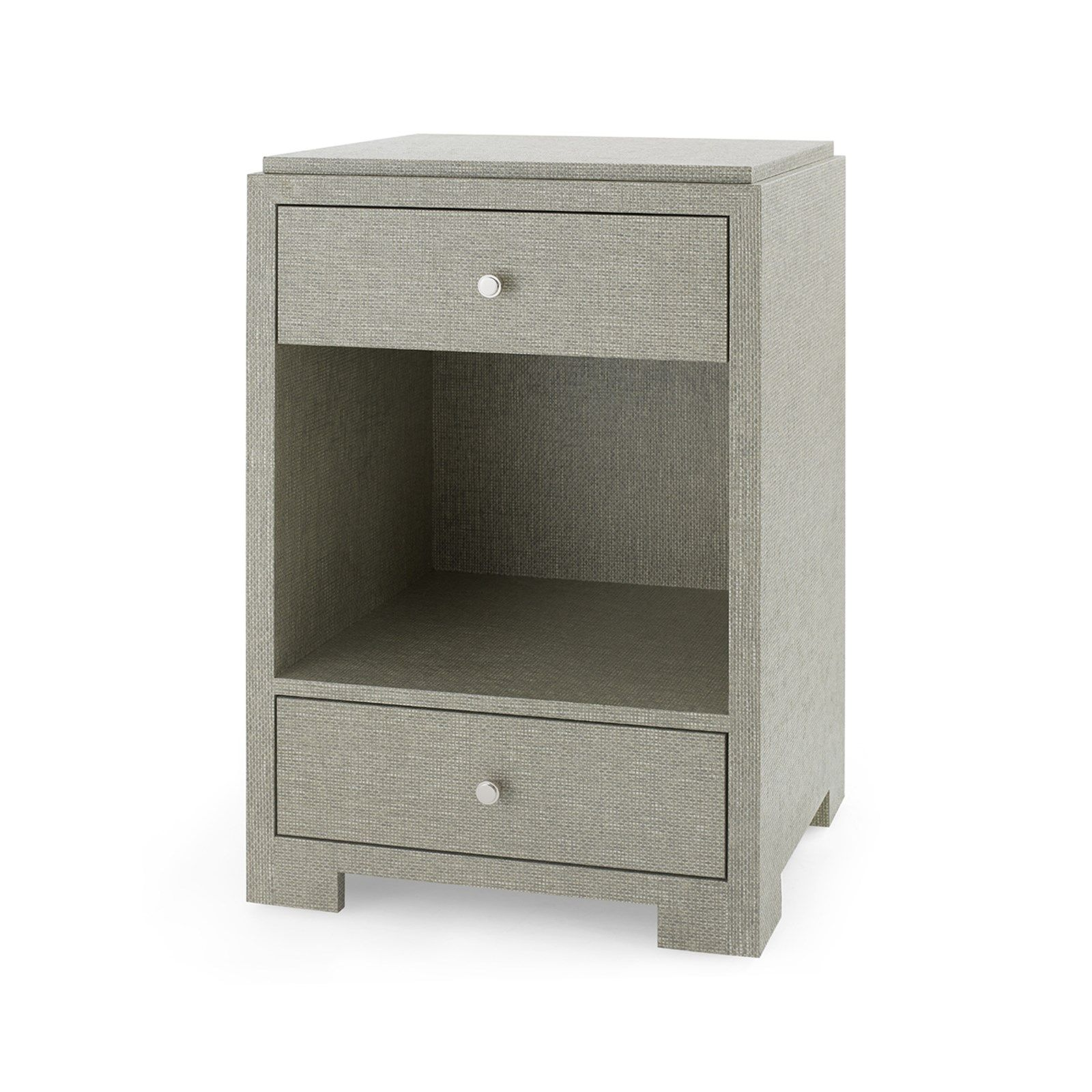Bungalow 5 - FEDOR 2-DRAWER SIDE TABLE, MOSS GRAY TWEED