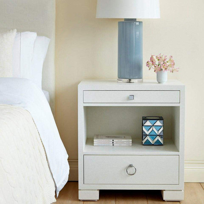 Bungalow 5 - FRANCES 2-DRAWER SIDE TABLE in WHITE-Bungalow 5-Blue Hand Home