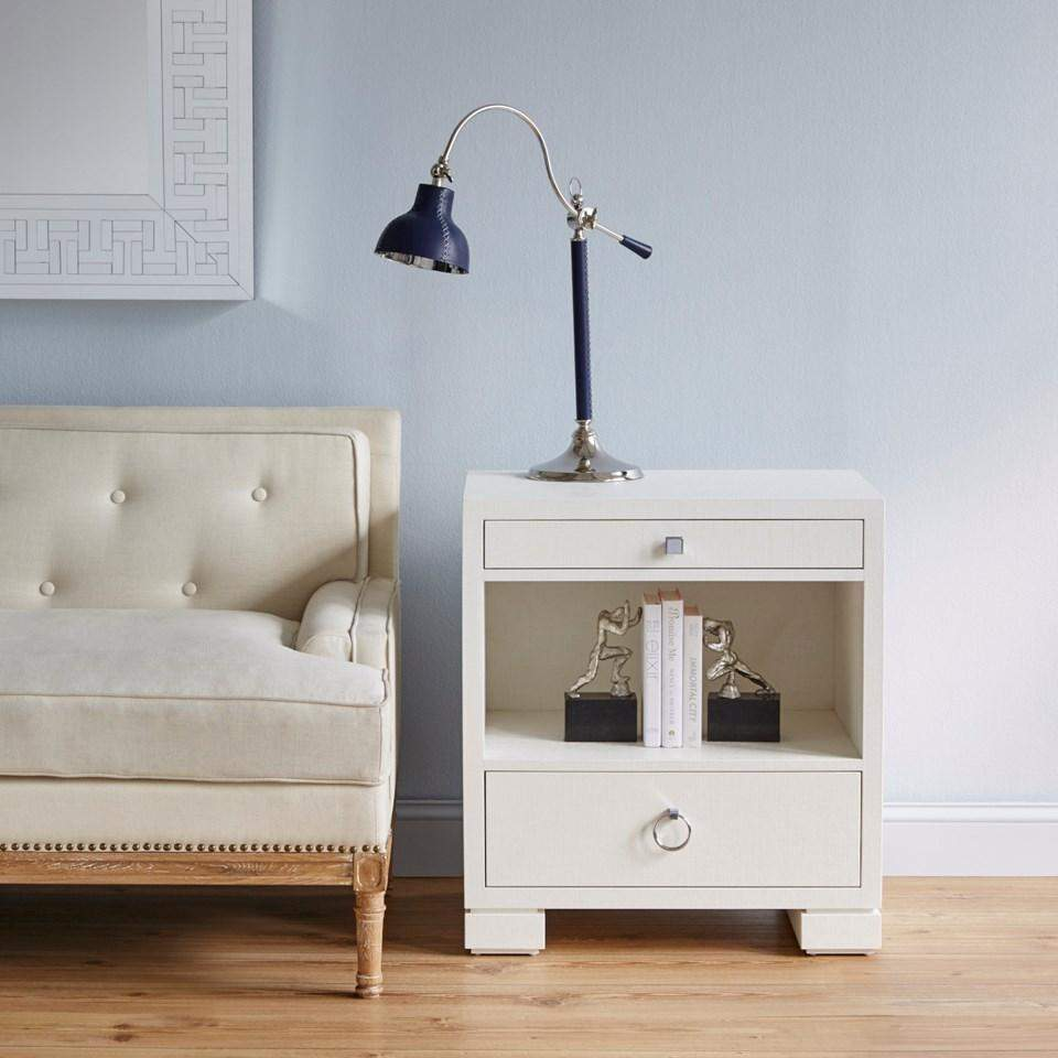 Attirant ... Bungalow 5   FRANCES 2 DRAWER SIDE TABLE In WHITE   Blue Hand Home