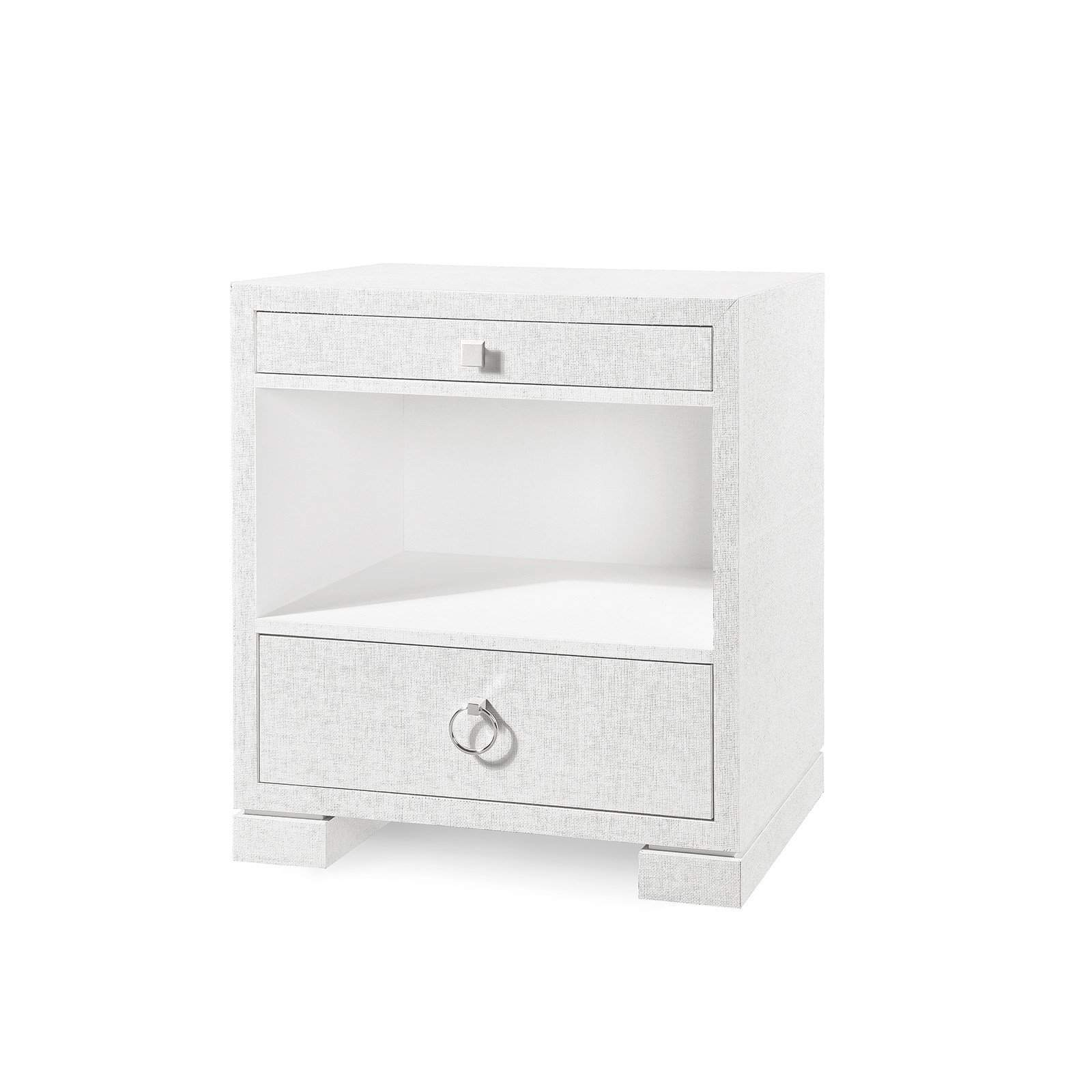 Bungalow 5 - FRANCES 2-DRAWER SIDE TABLE in WHITE