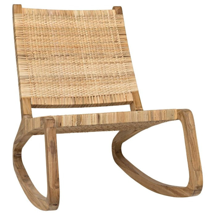 Noir Furniture Las Palmas Chair, Teak-Noir Furniture-Blue Hand Home