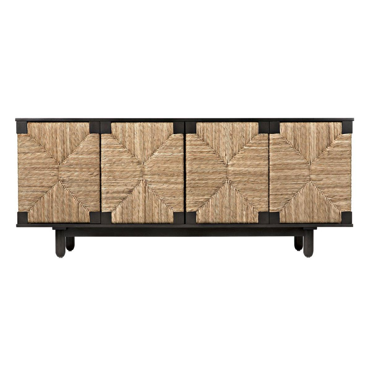Noir Brook 4 Door Sideboard, Pale