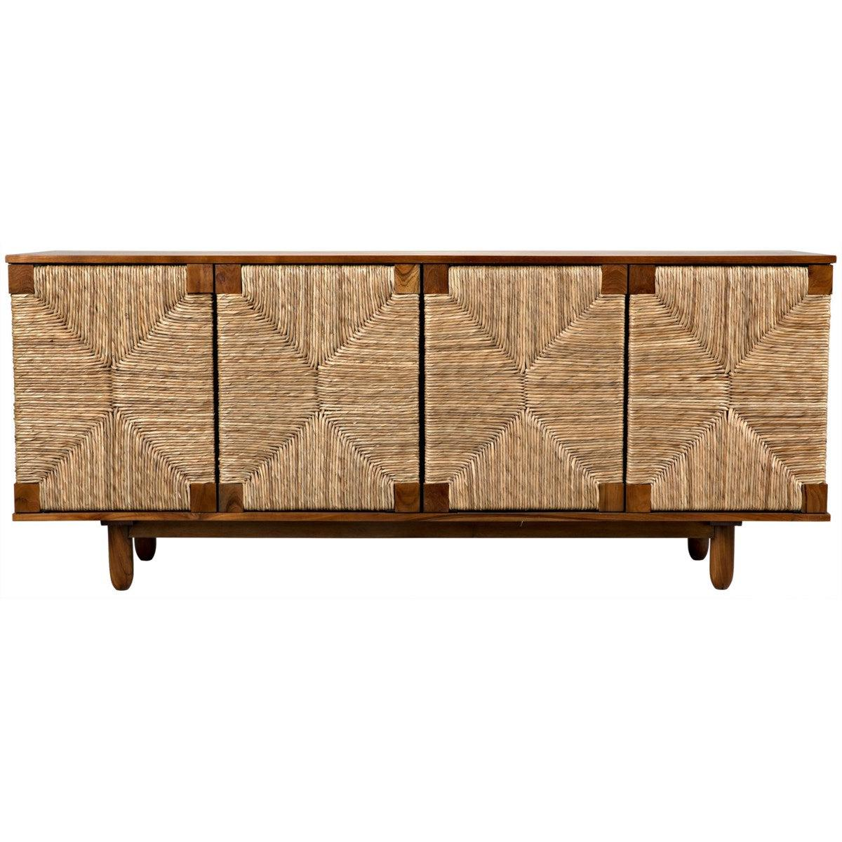 Noir Brook 4 Door Sideboard, Teak