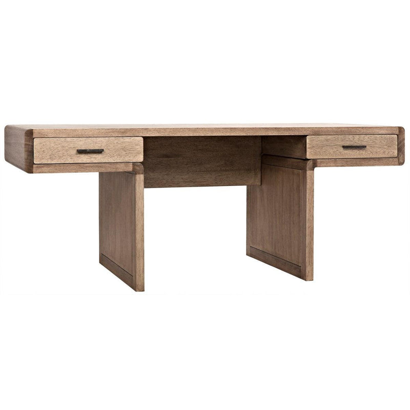 Noir Furniture Degas Desk, Washed Walnut-Noir Furniture-Blue Hand Home