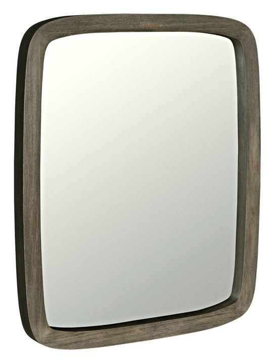 Noir Furniture Ford Mirror, Distressed Grey