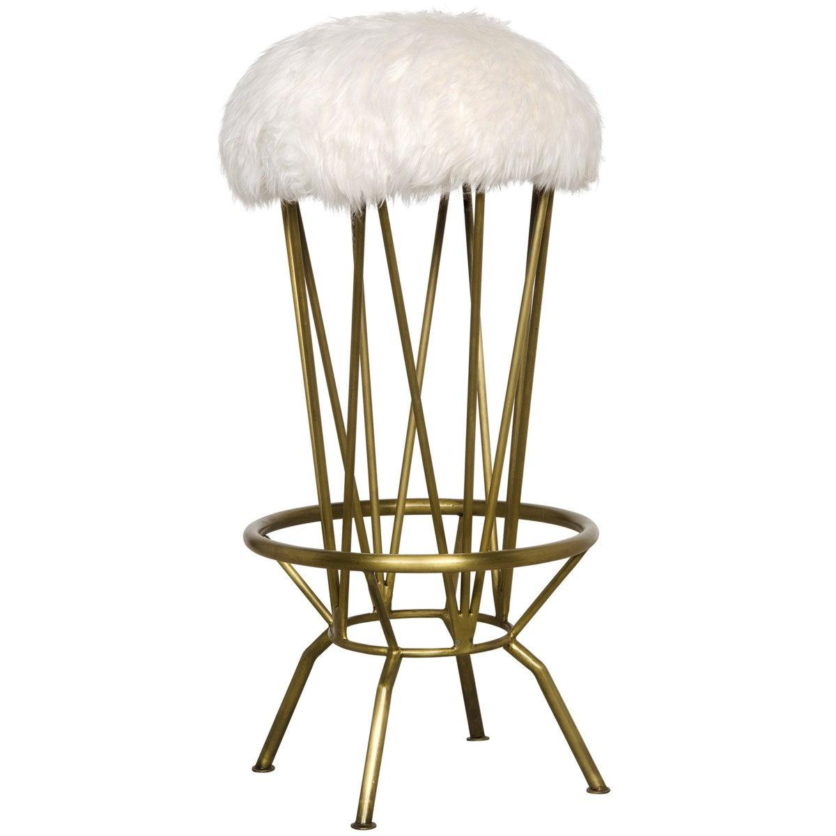 Noir Furniture Marsha Barstool, Metal with Brass Finish-Noir Furniture-Blue Hand Home
