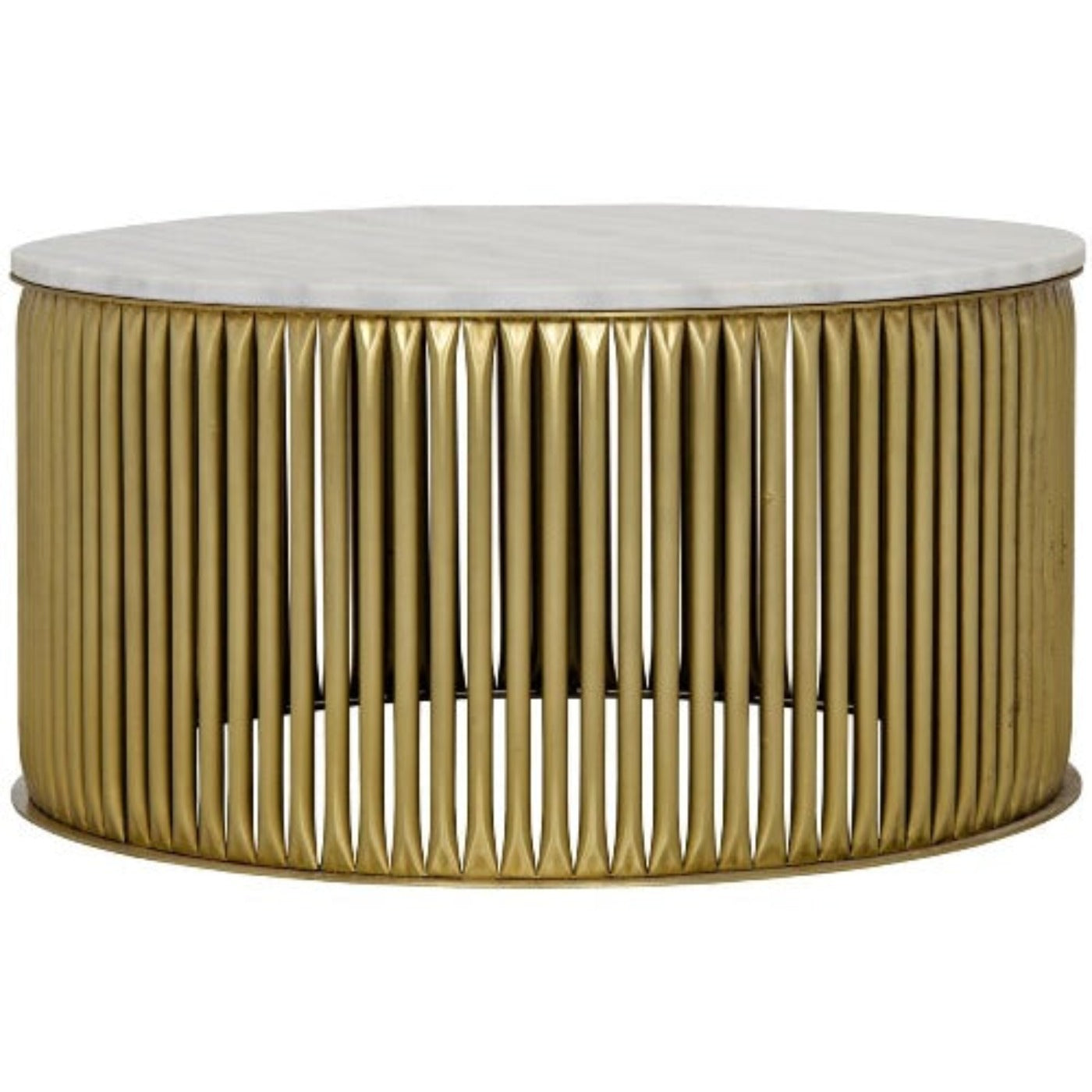 Noir Furniture Lenox Coffee Table, Antique Brass, Metal and Stone-Noir Furniture-Blue Hand Home