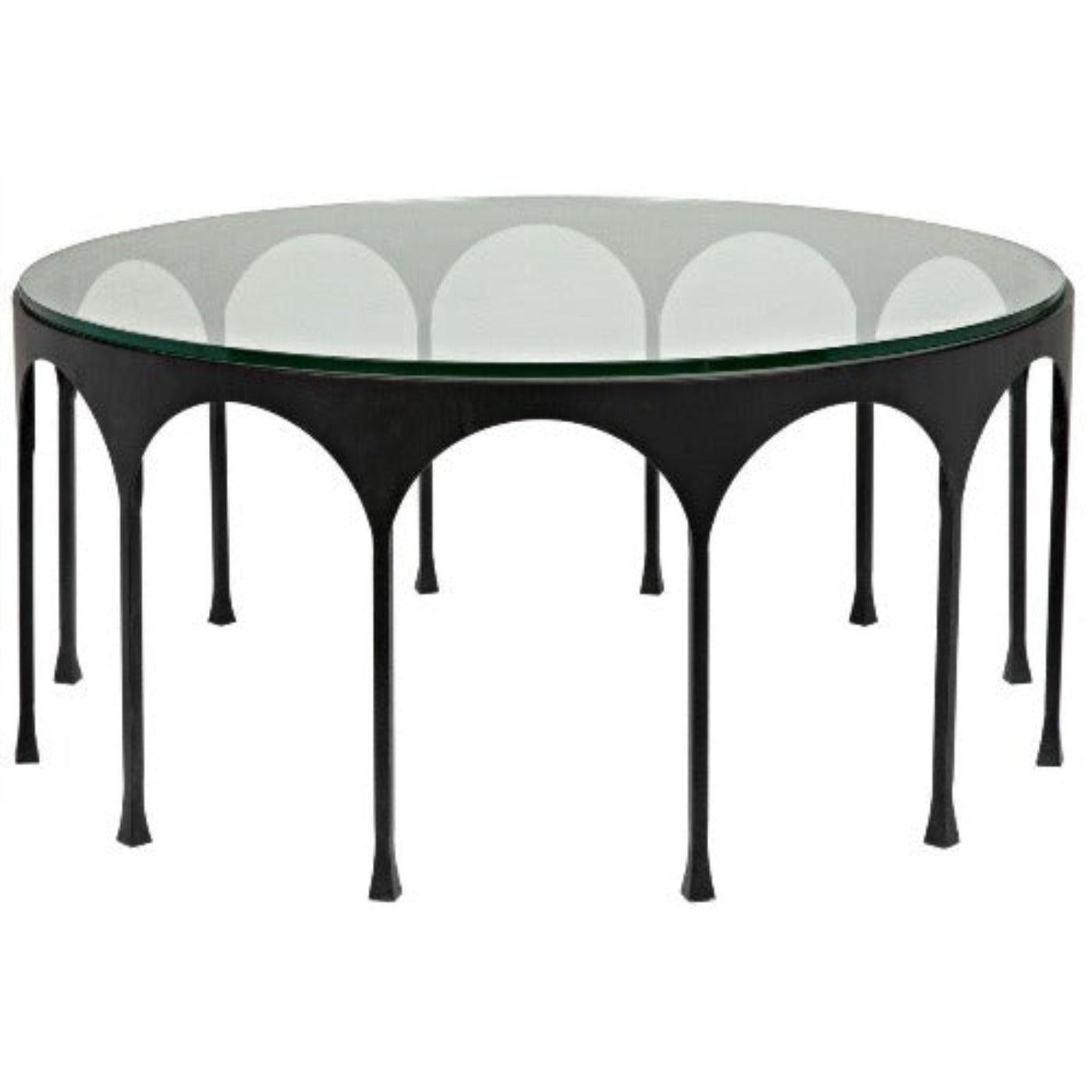 Noir Furniture Achille Coffee Table, Black Metal-Noir Furniture-Blue Hand Home