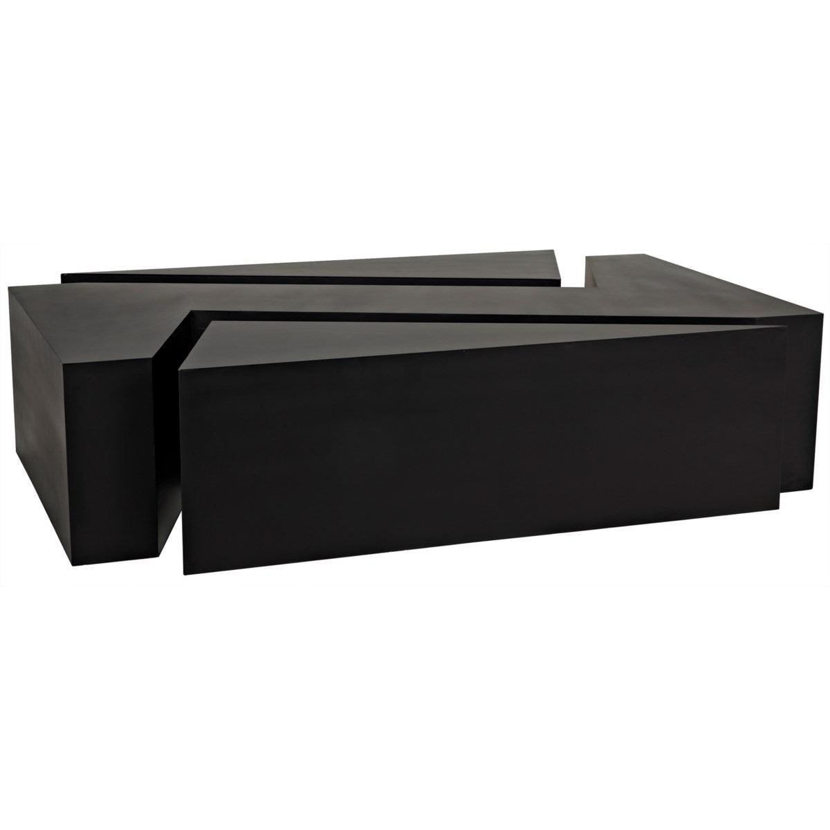 Noir Furniture Element Coffee Table, Black Metal-Noir Furniture-Blue Hand Home