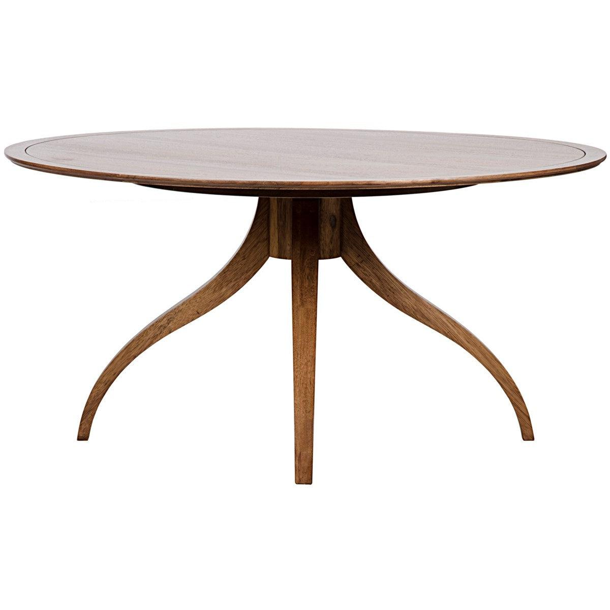 Noir Furniture Vera Dining Table, Dark Walnut-Noir Furniture-Blue Hand Home