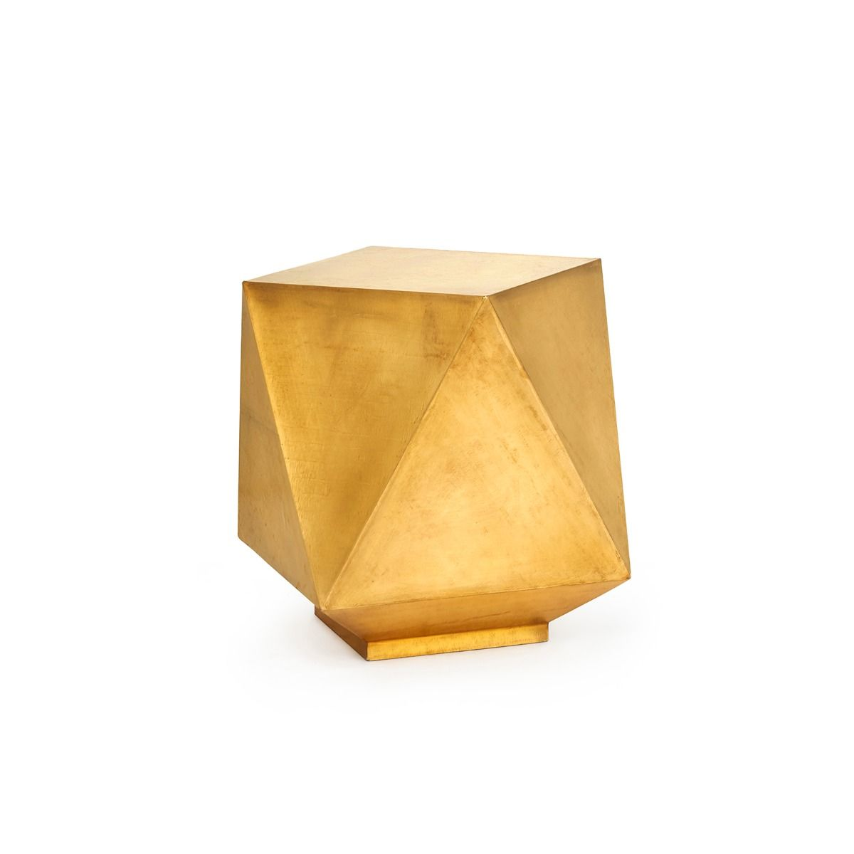 Bungalow 5 - Hedron Side Table - Brass-Bungalow 5-Blue Hand Home