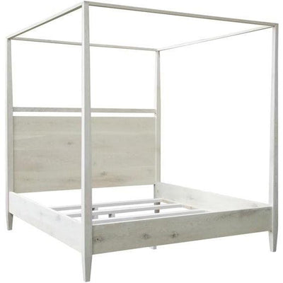 CFC Furniture Washed oak modern 4-poster bed, cal king-CFC Furniture-Blue Hand Home