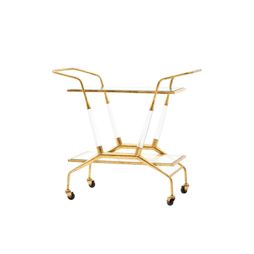Bungalow 5 - JEPSON BAR CART, GOLD-Bungalow 5-Blue Hand Home
