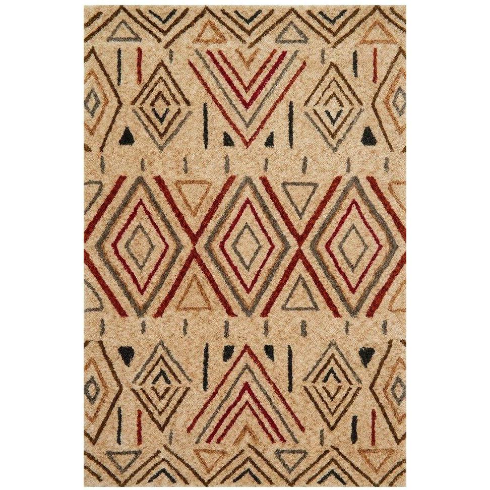 Justina Blakeney Rug - Kalliope Collection - KP-02 SAND / RUST - Blue Hand Home
