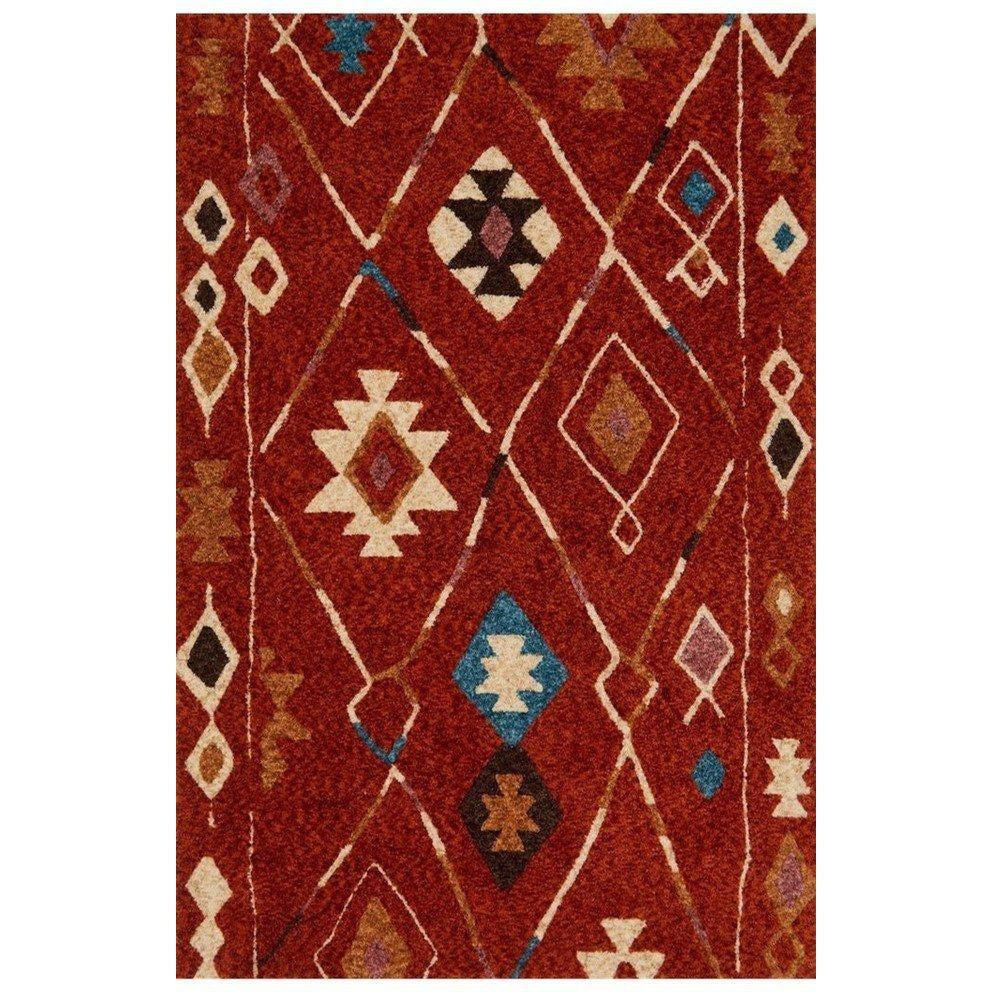 Justina Blakeney Rug - Kalliope Collection - KP-04 SPICE / BLUE - Blue Hand Home