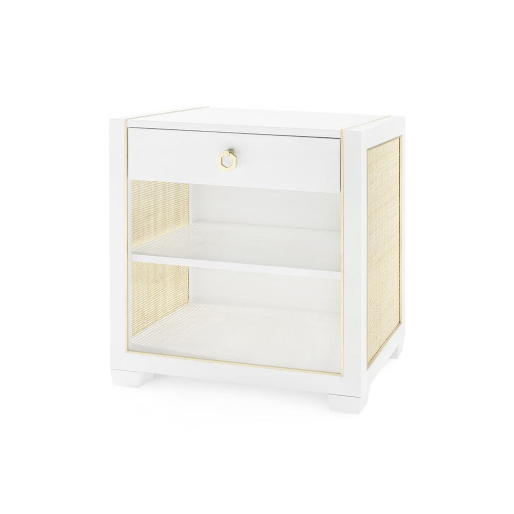 Bungalow 5 - KAREN 1-DRAWER SIDE TABLE, WHITE-Bungalow 5-Blue Hand Home