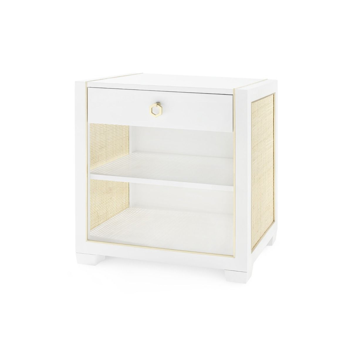 Bungalow 5 - KAREN 1-DRAWER SIDE TABLE, WHITE