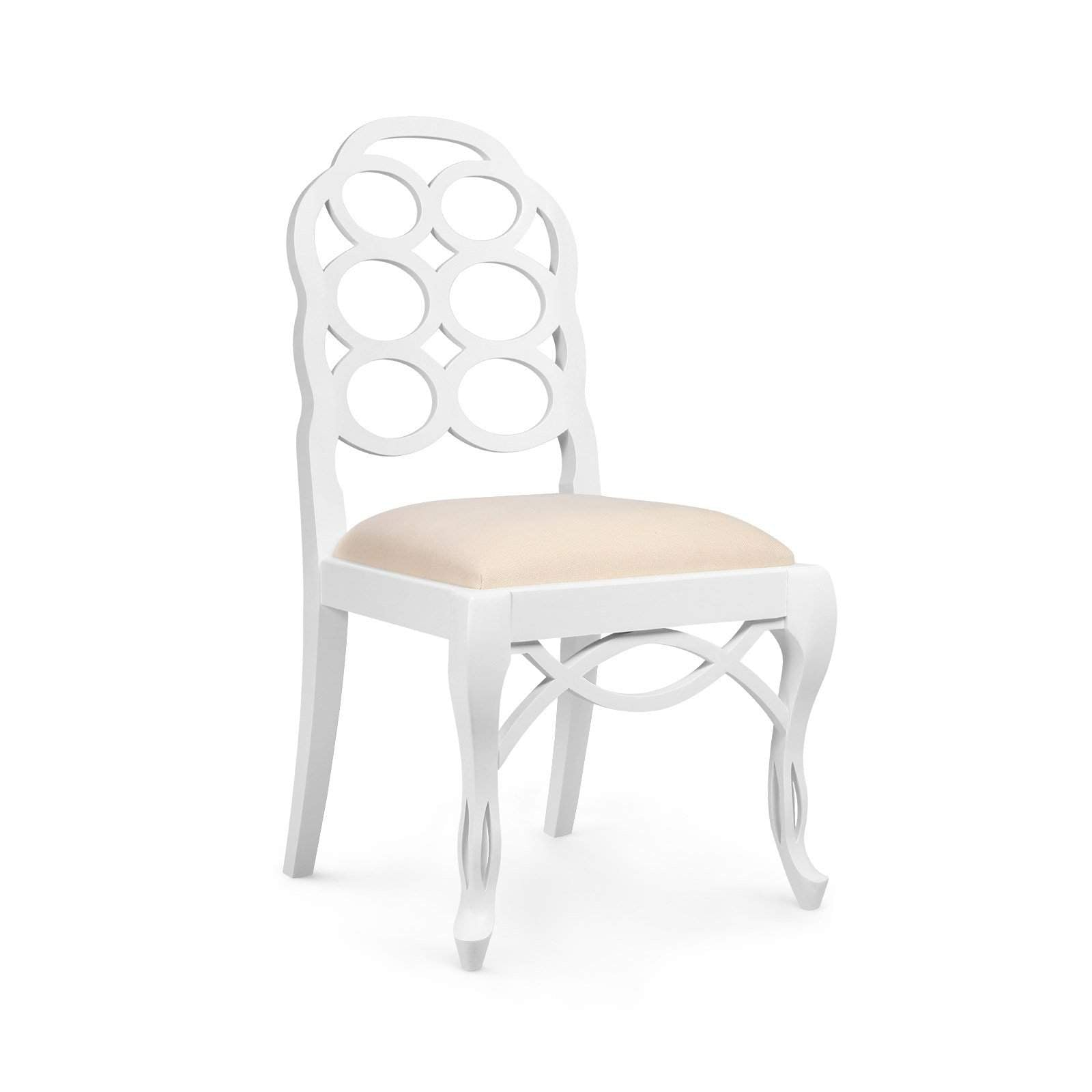 Bungalow 5 - LOOP SIDE CHAIR in WHITE