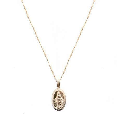 Mother Mary Pendant-Mod+Jo-Blue Hand Home