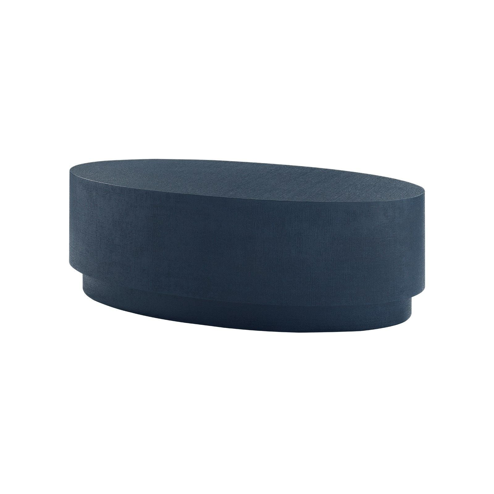 Bungalow 5 - MILA OVAL COFFEE TABLE, NAVY BLUE