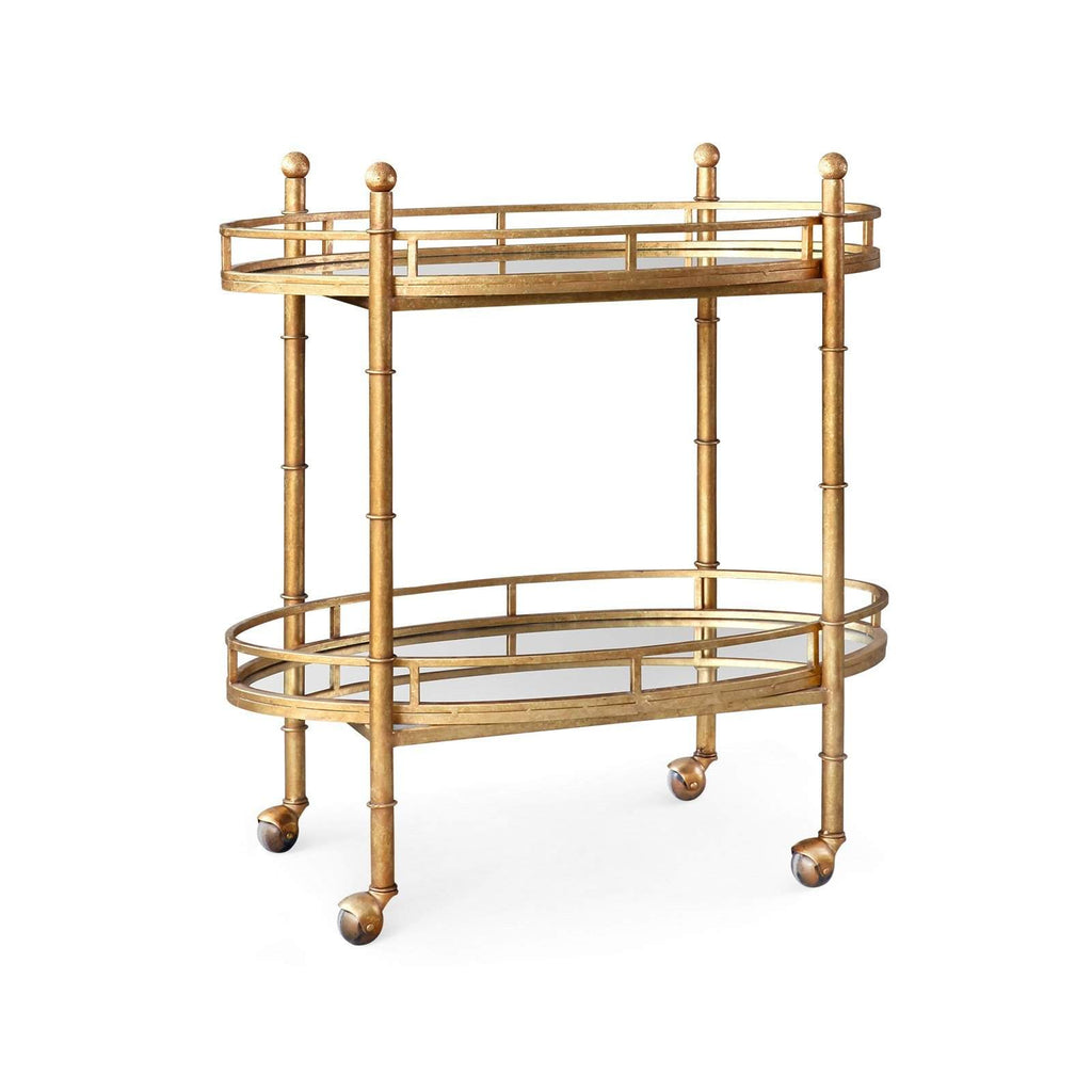 Bungalow 5 - NORMANDY BAR CART in GOLD-Bungalow 5-Blue Hand Home