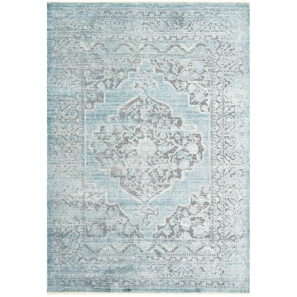 Joanna Gaines Of Magnolia Home Ophelia Rug Grey/Aqua