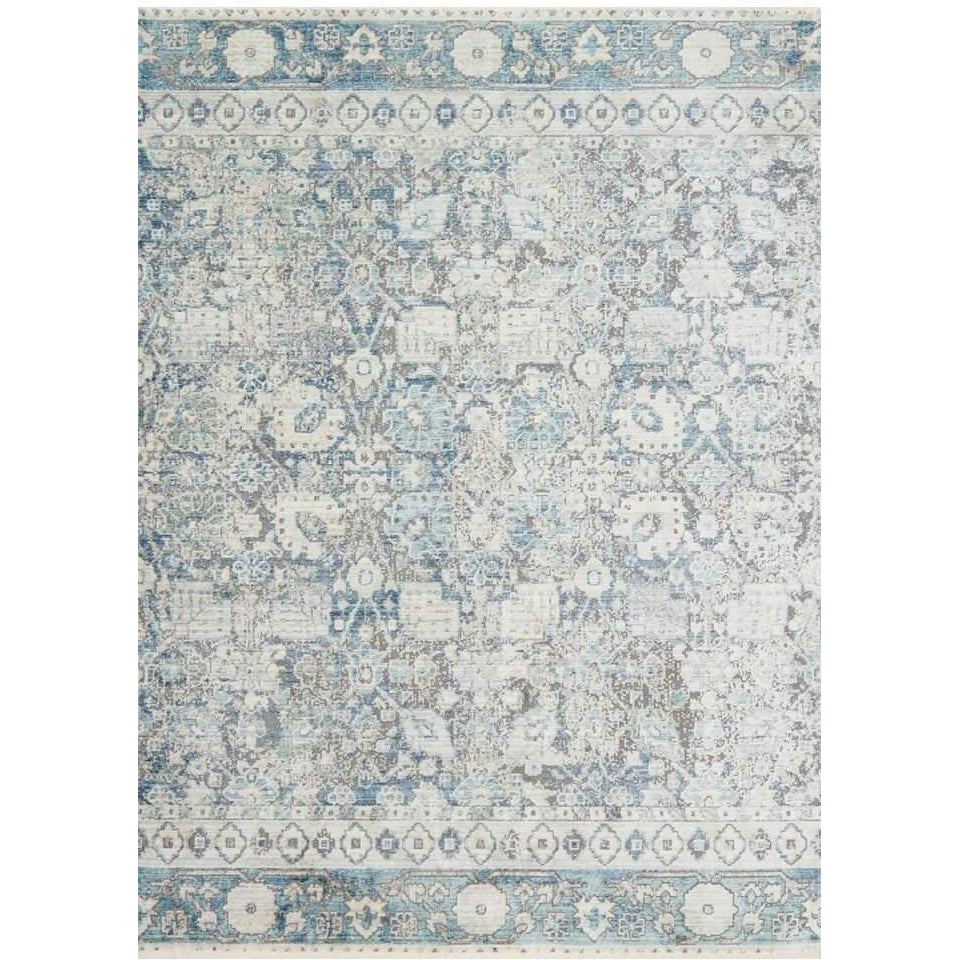 Joanna Gaines Of Magnolia Home - Ophelia Collection - OE-02 MH GREY/SKY - Blue Hand Home