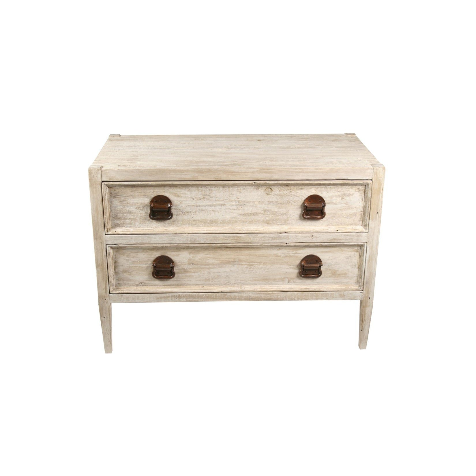 CFC Furniture Reclaimed Lumber Lewis 2-Drawer Nightstand-CFC Furniture-Blue Hand Home