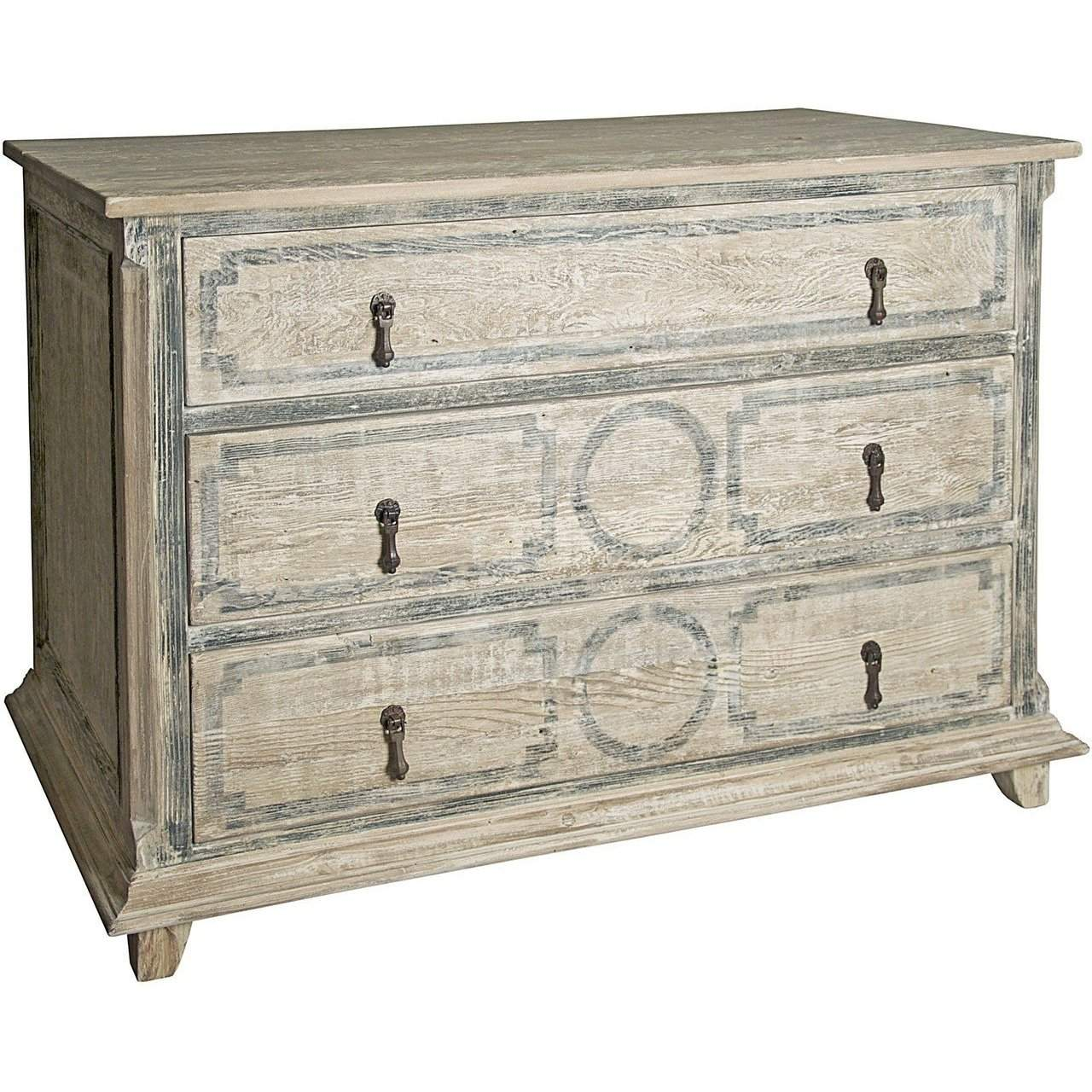 CFC Furniture Reclaimed Lumber Livingston 3-drw RL Dresser - Blue Hand Home