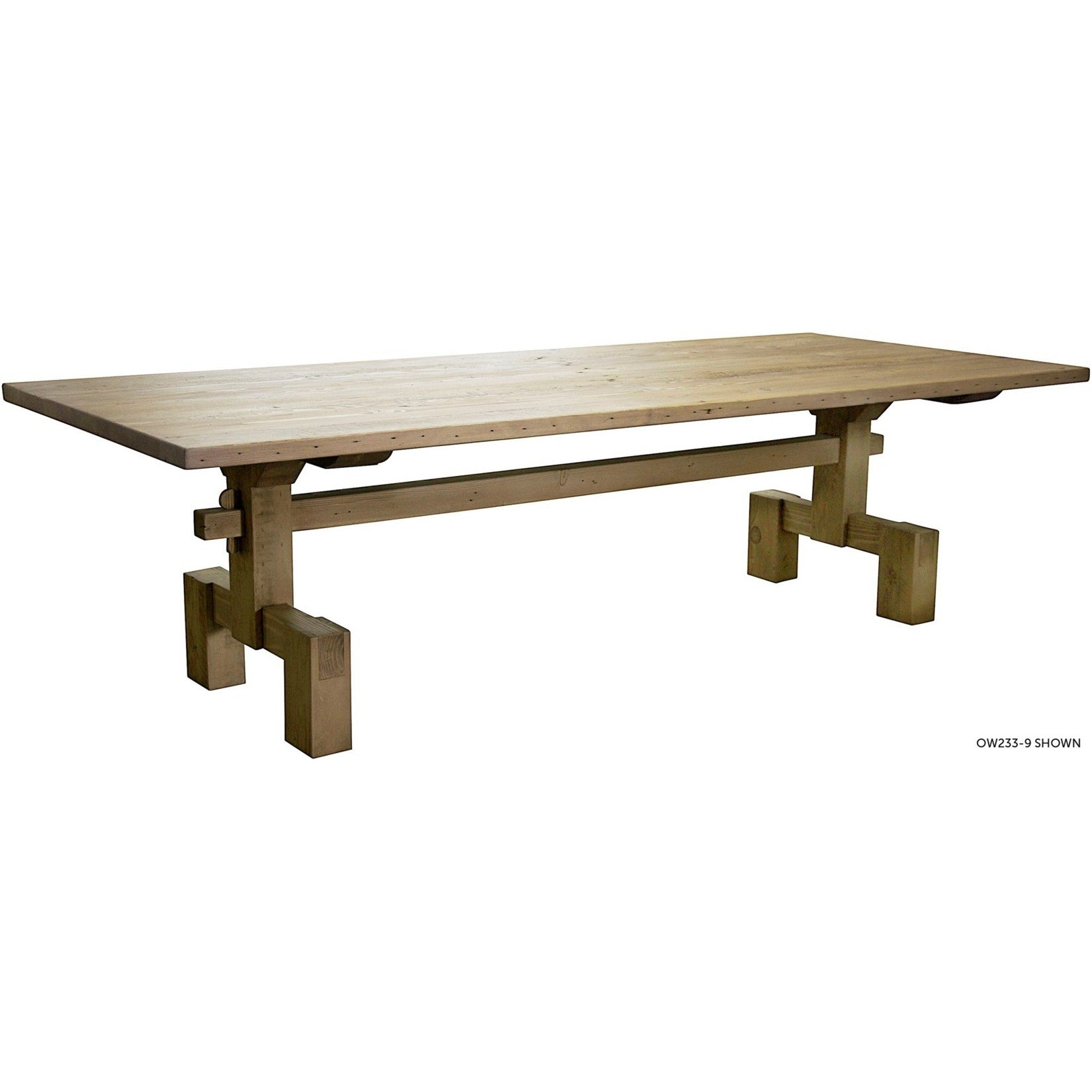 "CFC Furniture Reclaimed Lumber Emilia Dining Table, 120""-CFC Furniture-Blue Hand Home"