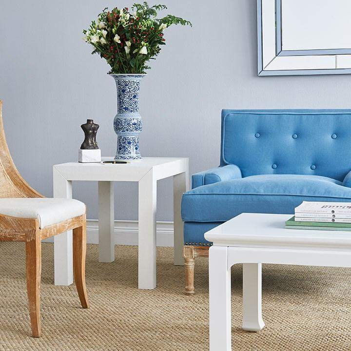 Merveilleux ... Bungalow 5   PARSONS SIDE TABLE In WHITE   Blue Hand Home
