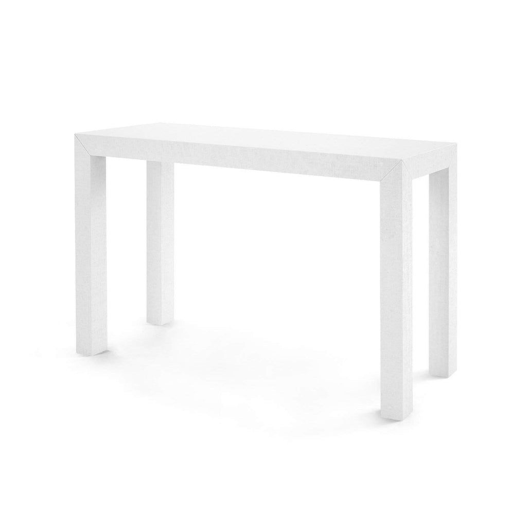 Bungalow 5 - PARSONS CONSOLE TABLE in WHITE - Blue Hand Home