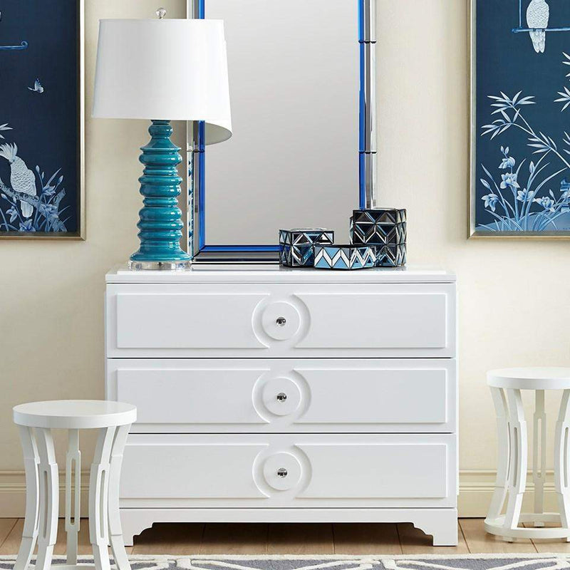 Bungalow 5 - SAVOY MEDIUM 3-DRAWER in WHITE-Bungalow 5-Blue Hand Home