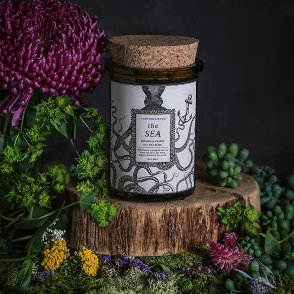 Botanica 40 Hour Burn Candle-L'apothicaire Co.-Blue Hand Home