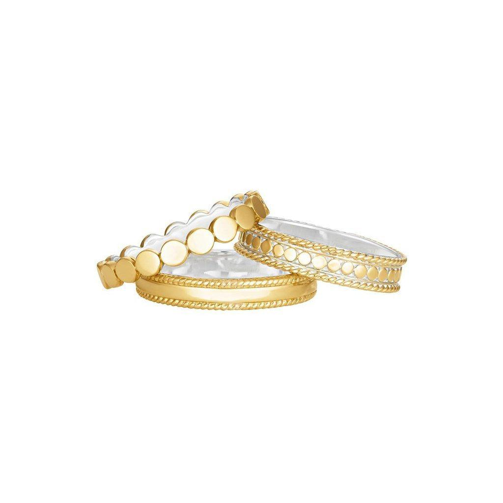 Anna Beck Stacking Rings Set of 3 - Gold-Anna Beck Jewelry-Blue Hand Home