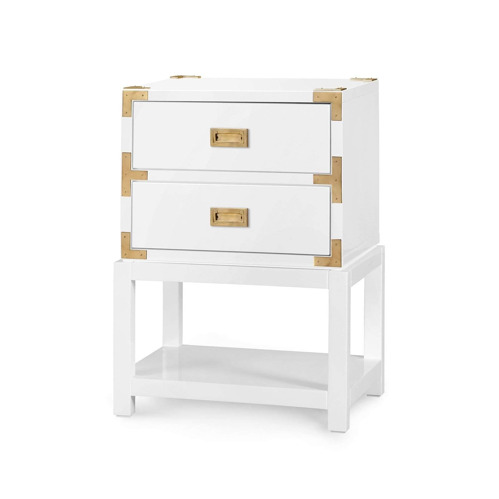Bungalow 5 - TANSU 2-DRAWER SIDE TABLE. in WHITE