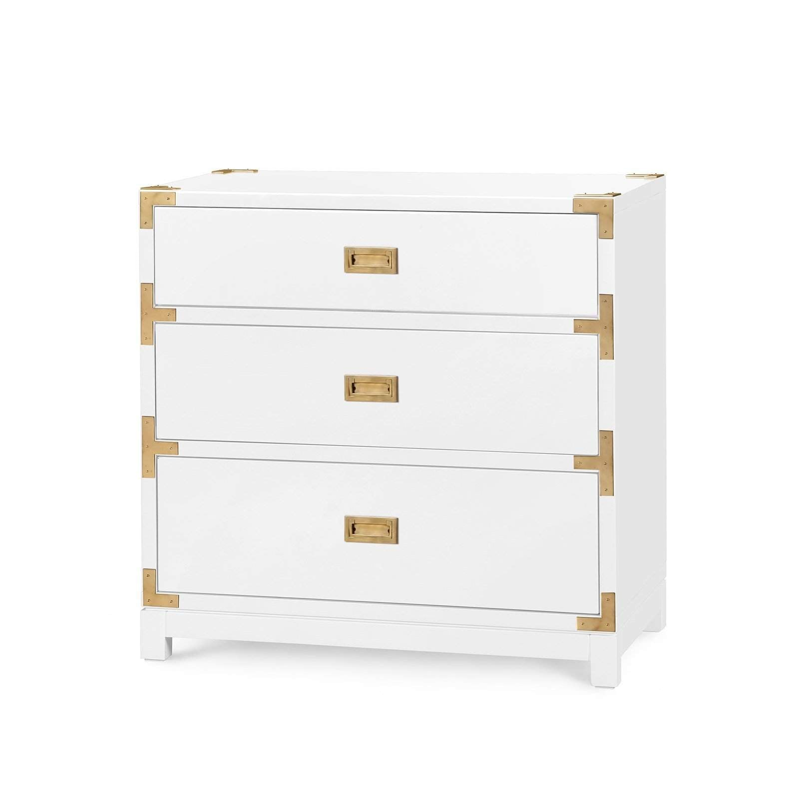 Bungalow 5 - VICTORIA 3-DRAWER SIDE TABLE in WHITE