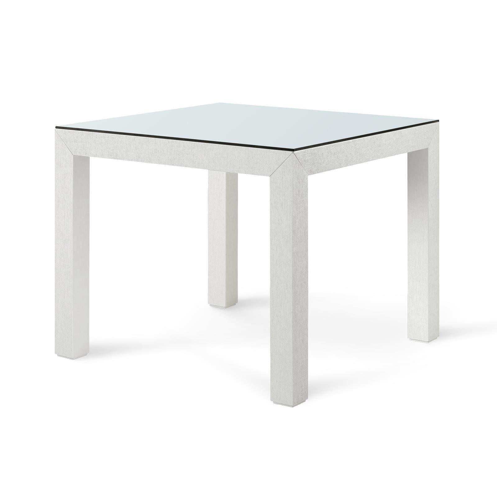 Pleasant Bungalow 5 Valentina Grasscloth Game Table In White Home Interior And Landscaping Elinuenasavecom
