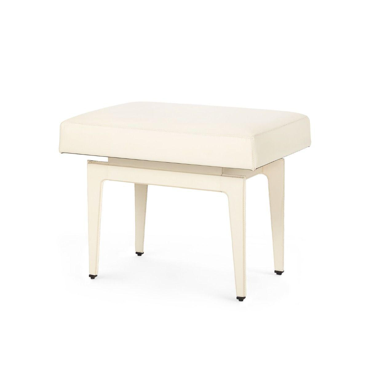 Bungalow 5 - Winston Stool - Ivory-Bungalow 5-Blue Hand Home