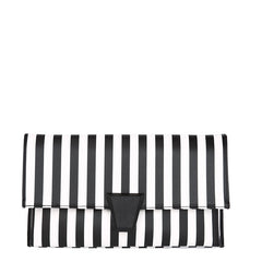 Layla Striped Clutch - Melie Bianco Handbags Accessories