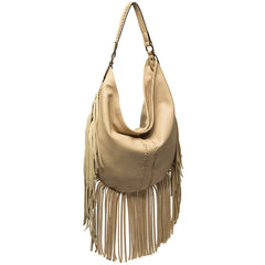 Velma Large Fringe Hobo - Melie Bianco Handbags Accessories