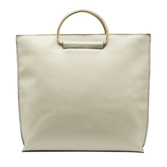 Brigitte Metal Handle Tote - Melie Bianco Handbags Accessories