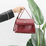 vegan, cruelty free, handbag, bag, purse, faux leather, animal friendly, sustainable fashion, crossbody, medium, small, gold hardware, burgundy, wine, red