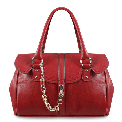 Kristy Flap Over Satchel With Chain Closure