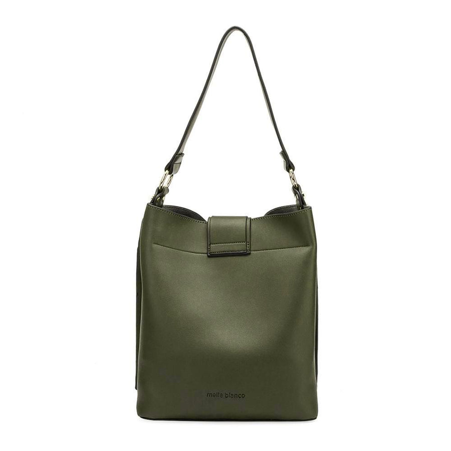 Melie Bianco Alessia Luxury Vegan Leather Shoulder Bag in Olive