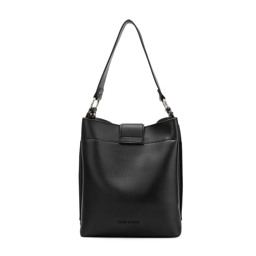 Melie Bianco Alessia Luxury Vegan Leather Shoulder Bag in Black