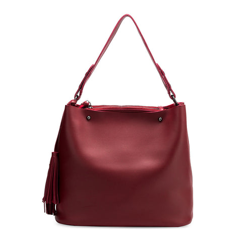 Niccola Wine Shoulder Bag