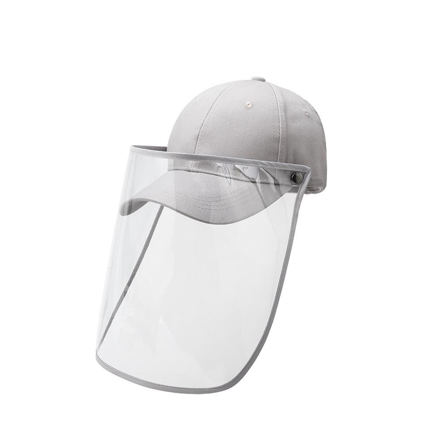 Gray Baseball Cap Face Shield - FINAL SALE